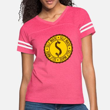 Euro coin dollar sign circle round millionaire old stam - Women's Vintage Sport T-Shirt