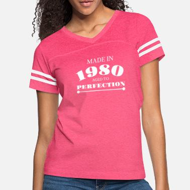 Year Of Birth made in 1980 year of birth Anniversary year 40 - Women's Vintage Sport T-Shirt