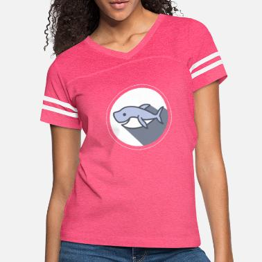 HAPPY SHARK Smiling Sea Creature Animal - Women's Vintage Sport T-Shirt