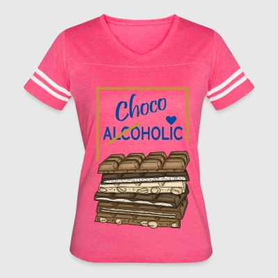 Chocoholic Chocolate Love - Women's Vintage Sport T-Shirt