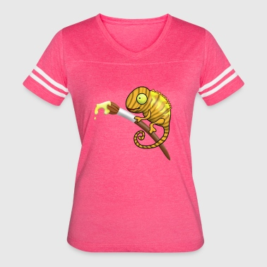 Chameleon yellow - Women's Vintage Sport T-Shirt