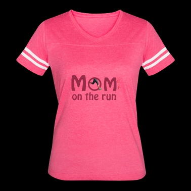 Mom On The Run - Women's Vintage Sport T-Shirt