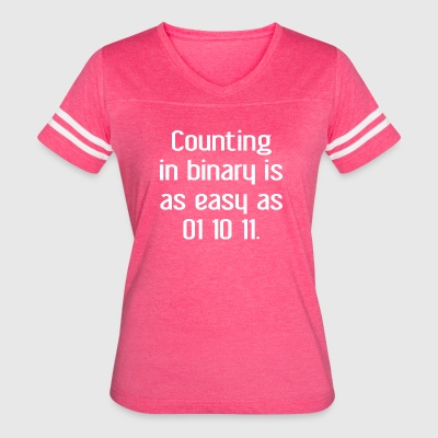 Counting In Binary T Shirt - Women's Vintage Sport T-Shirt