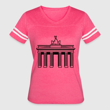 Brandenburger Tor famous german building Berlin - Women's Vintage Sport T-Shirt