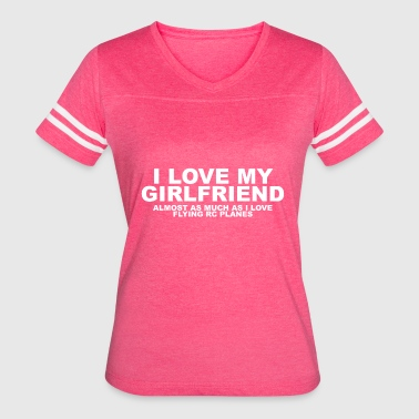 girlfriend rc plane copy - Women's Vintage Sport T-Shirt