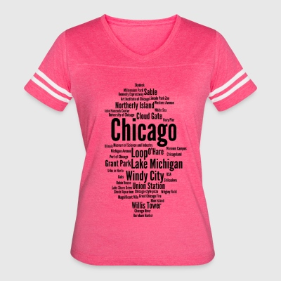 Chicago (Windy City; Illinois, USA) - Women's Vintage Sport T-Shirt
