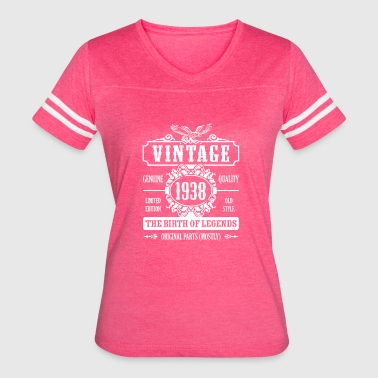 Vintage 1938 The Birth Of Legends - Women's Vintage Sport T-Shirt