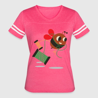 Little sewing bee - Women's Vintage Sport T-Shirt