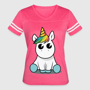 Baby unicorn funny costume - Women's Vintage Sport T-Shirt