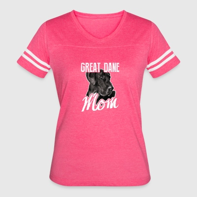 Great Dane Dog Mom Tee Shirt - Women's Vintage Sport T-Shirt