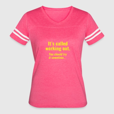 Working Out - Women's Vintage Sport T-Shirt