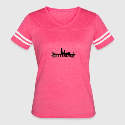 Arc Skyline Of Rotterdam Netherlands - Women's Vintage Sport T-Shirt