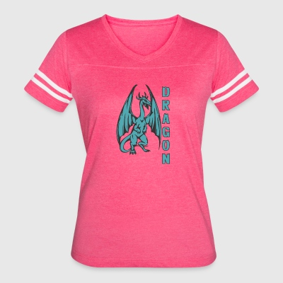 Dragon_with_long_wings_colored - Women's Vintage Sport T-Shirt