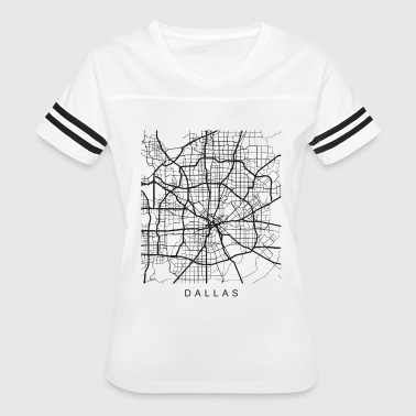 City Map Dallas TX Minimalist City Street Map Dark Design - Women's Vintage Sport T-Shirt