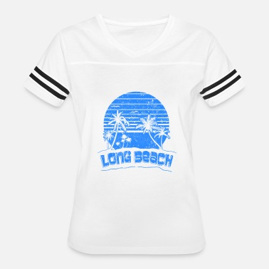 Long Beach Kids Long Beach CA Sunset Beach Vacation Paradise - Women's Vintage Sport T-Shirt