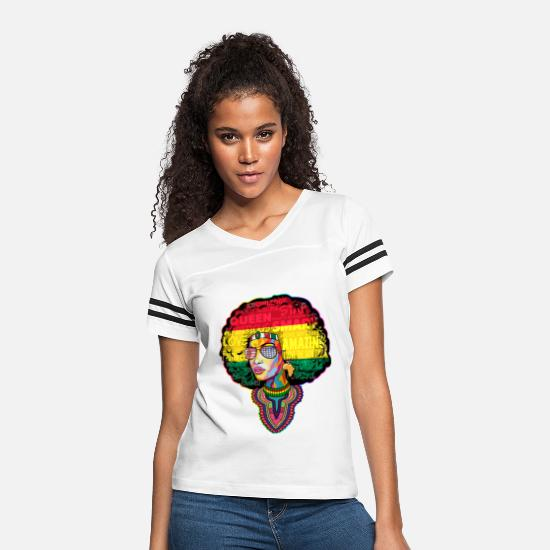 Afro T-Shirts - AFRO WOMAN June - Women's Vintage Sport T-Shirt white/black