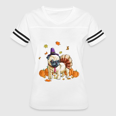 Pug Thanksgiving Costume - Women's Vintage Sport T-Shirt