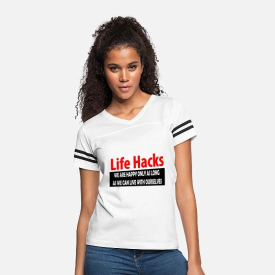 Life Force T-Shirts - life hacks - Women's Vintage Sport T-Shirt white/black