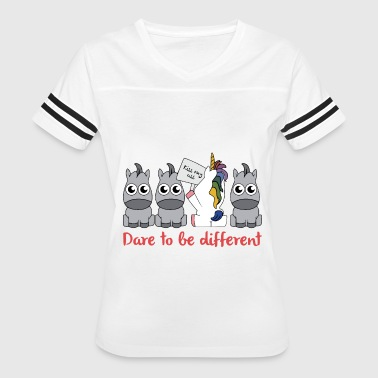 Fuck Dare dare to be different unicorn - Women's Vintage Sport T-Shirt