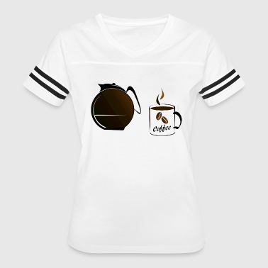 Powered By Coffee Coffee Power - Women's Vintage Sport T-Shirt