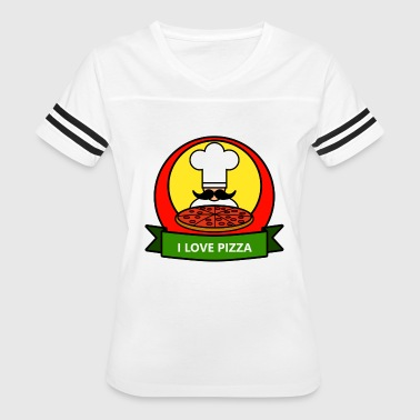 I Love Pizza Present - Women's Vintage Sport T-Shirt