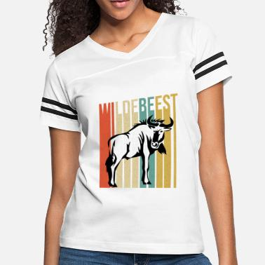 Wildebeest Funny Wildebeest - Large Wild Animal - Humor - Women's Vintage Sport T-Shirt