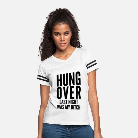 Rock 'n' Roll T-Shirts - Hungover - Women's Vintage Sport T-Shirt white/black