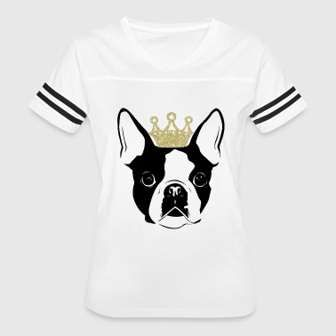 Boston terrier - Boston Terrier with Crown - Women's Vintage Sport T-Shirt