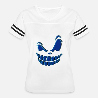 Direct Hit Smile Laugh Mean Grin Halloween Costume - Women's Vintage Sport T-Shirt