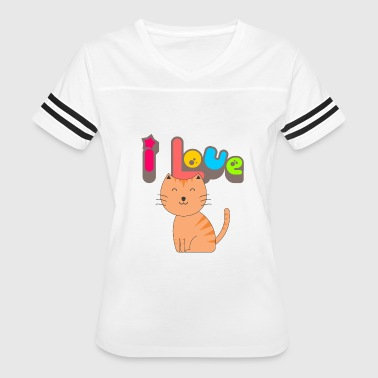 I Love Kitty Cat - Women's Vintage Sport T-Shirt