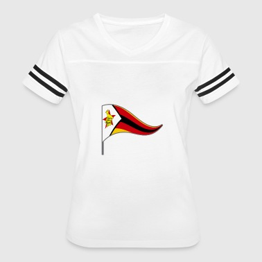 zimbabwe Flag Banner Flags Ensigns Africa - Women's Vintage Sport T-Shirt