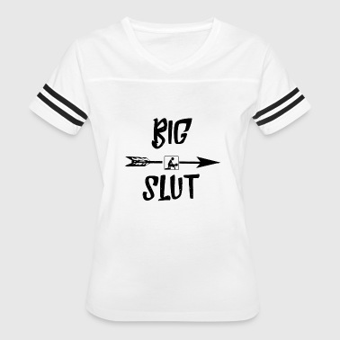Boobs Blow Job Big Slut Arrow Tee Shirt - Women's Vintage Sport T-Shirt
