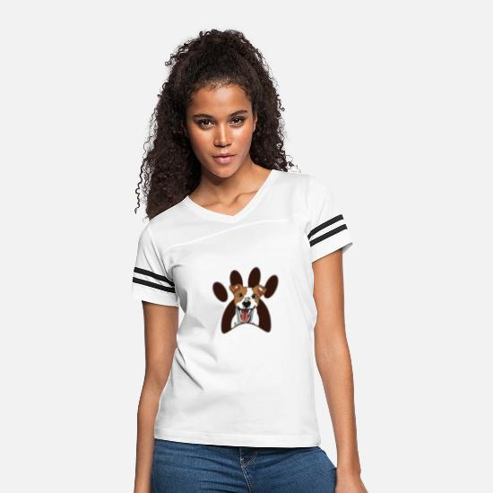 Dog Paw T-Shirts - Dog with paw - Women's Vintage Sport T-Shirt white/black