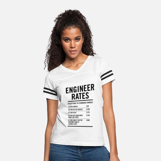 Engineer T-Shirts - Engineer Labour Rates Mens Funny - Women's Vintage Sport T-Shirt white/black