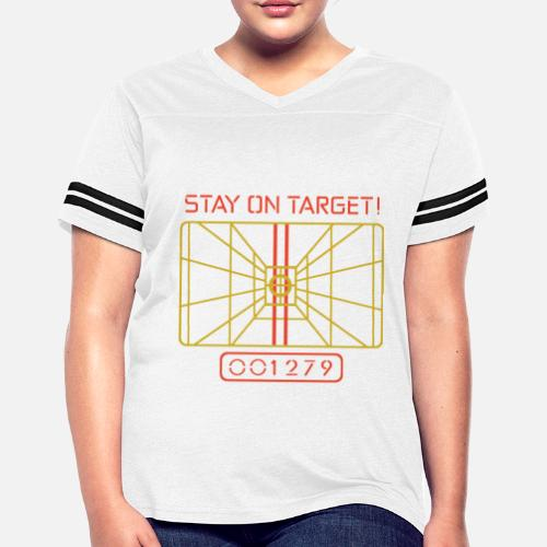 6d6c55df6 Stay On Target t shirt X WING COMPUTER STAR WARS Women's Vintage ...