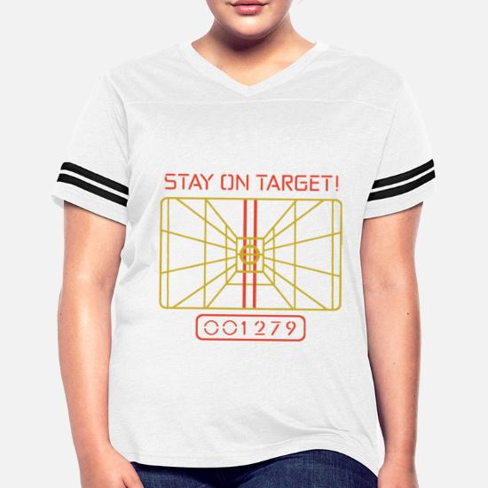 e89fc1d4b Women's Vintage Sport T-ShirtStay On Target t shirt X WING COMPUTER STAR  WARS