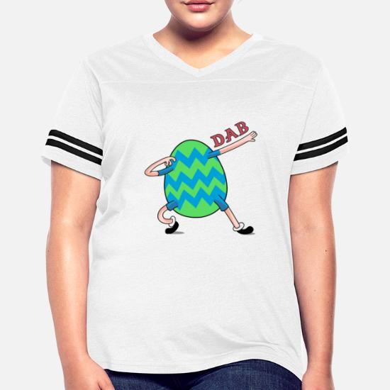 dc37773d Women's Vintage Sport T-ShirtDabbing Easter Egg Shirt for Boys Girls Adults