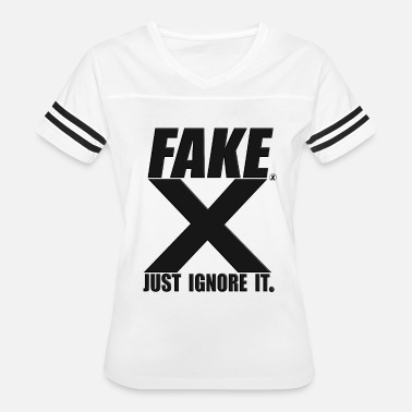 Fake Basketball FAKE X Just Ignore it Black - Women's Vintage Sport T-Shirt