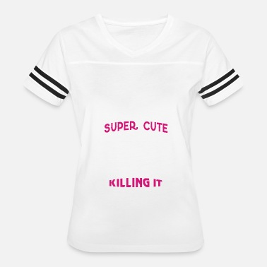 A Super Cute Football Mom A Super Cute Football Mom T Shirt - Women's Vintage Sport T-Shirt