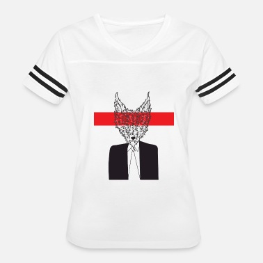 Wolf Suit And Tie Wolf in Men's Clothing - Women's Vintage Sport T-Shirt