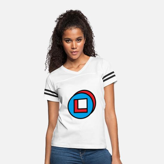Square T-Shirts - circle square - Women's Vintage Sport T-Shirt white/black