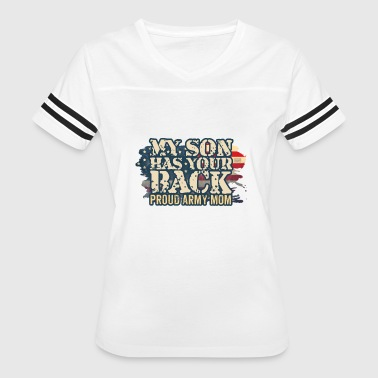 Vintage Patriotic American USA Flag Proud Army Mom - Women's Vintage Sport T-Shirt
