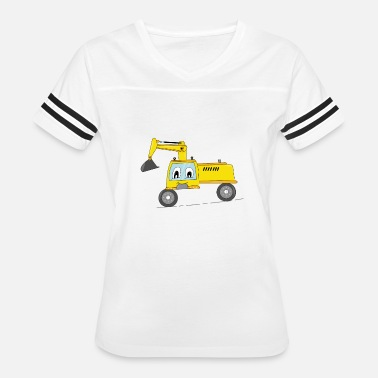 Child Fire Truck FUNNY CONSTUCTION TRUCK KID GIFT BIRTHDAY CARTOON - Women's Vintage Sport T-Shirt
