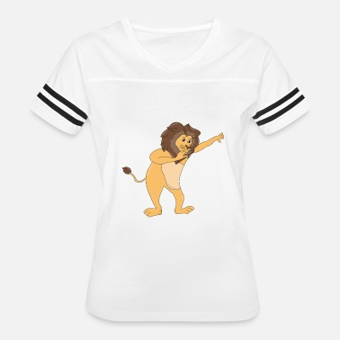 Animal Lion Dance CUTE DABBING DANCE ANIMAL FUNNY GIFT LION - Women's Vintage Sport T-Shirt