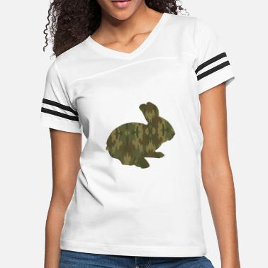 0312fa66 Camouflage Bunny Rabbit T Shirt - Women's Vintage Sport ...