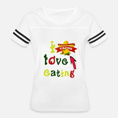 Love Tacos love tacos - love eating tacos - Mexican tacos - Women's Vintage Sport T-Shirt
