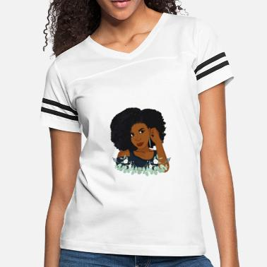 Natural Woman Natural Hair Afro Woman - Women's Vintage Sport T-Shirt