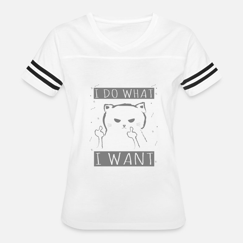c2fa8a1b Novelty T-Shirts - Funny Novelty Gift For Cat Lover - Women's Vintage Sport  T. Do you want ...