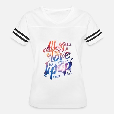 Kpop Dance KPOP All You Need is Kpop T-Shirt - Women's Vintage Sport T-Shirt