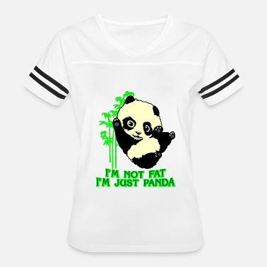 panda bear thick comic present slim fun fat joke - Women's Vintage Sport T-Shirt